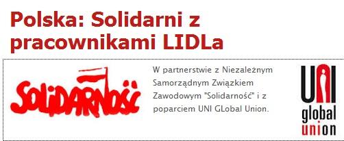 Solidarni z pracownikami LIDLa