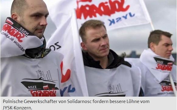 """NSZZ """"Solidarność"""" JYSK Sp. z o. o. w Niemieckich mediach"""