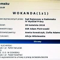Wokanda Sąd Pracy Radomsko