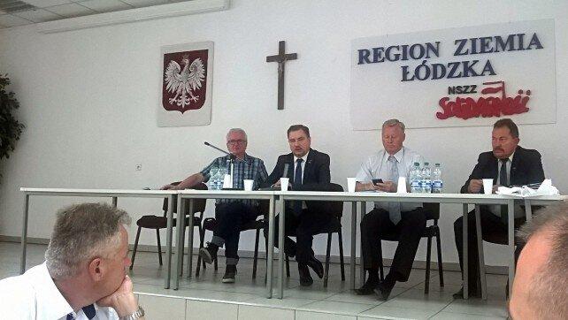 """Piotr Duda – Przewodniczący Komisji Krajowej NSZZ """"Solidarność"""" gościem Zarządu Regionu Ziemia Łódzka"""