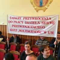 Związkowcy na sesji Rady Miasta w Radomsku