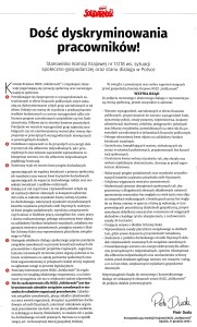 Postulaty NSZZ ''Solidarność''